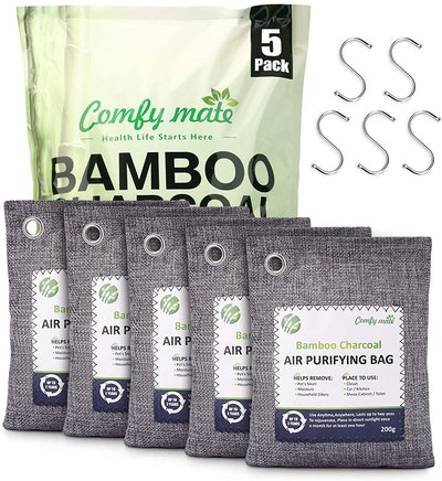 Comfy Mate Bamboo Charcoal Air Purifying Bags (5-Pack)