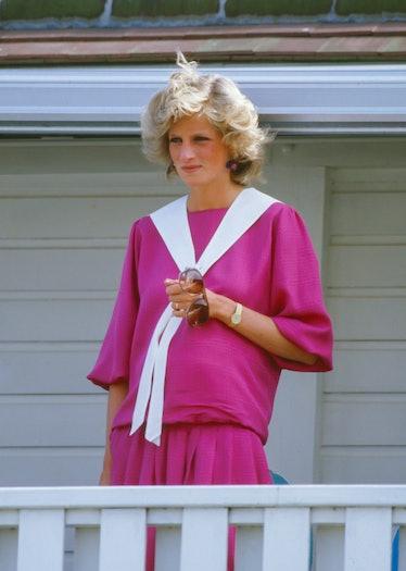 Princess Diana wearing hot pink