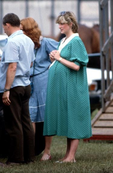 A very pregnant Princess Diana