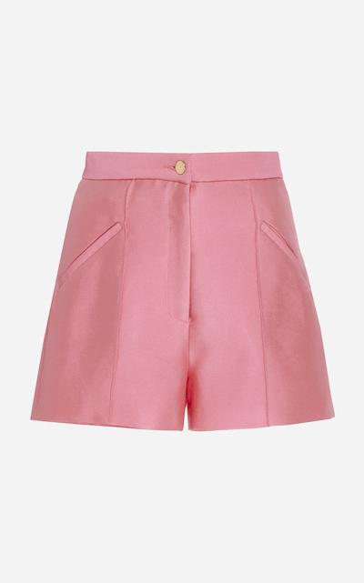 High Rise Satin Twill Gazaar Shorts