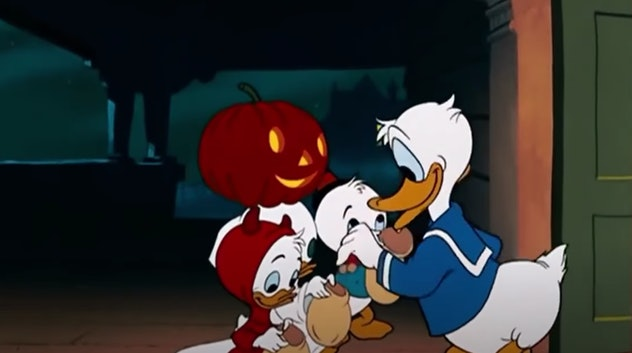 Donald Duck is the star of the Disney+ short, 'Trick or Treat.'
