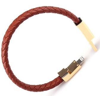 GVUSMIL USB Leather Charging Bracelet