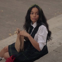 Whitney Peak, who plays Zoya on the Gossip Girl reboot, via trailer screenshot.