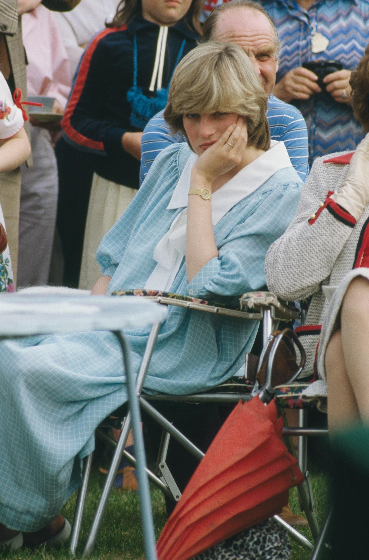 Princess Diana looking grumpy
