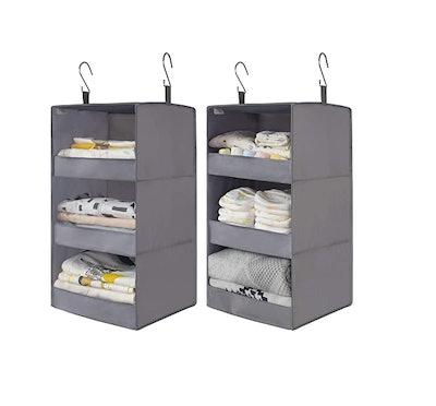 GRANNY SAYS 3-Shelf Hanging Closet Organizers (2-Pack)