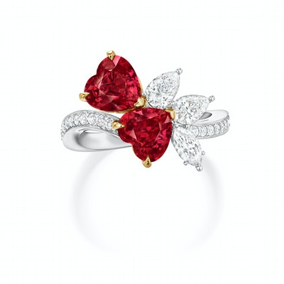 Winston Vow Dual Hearts Ring