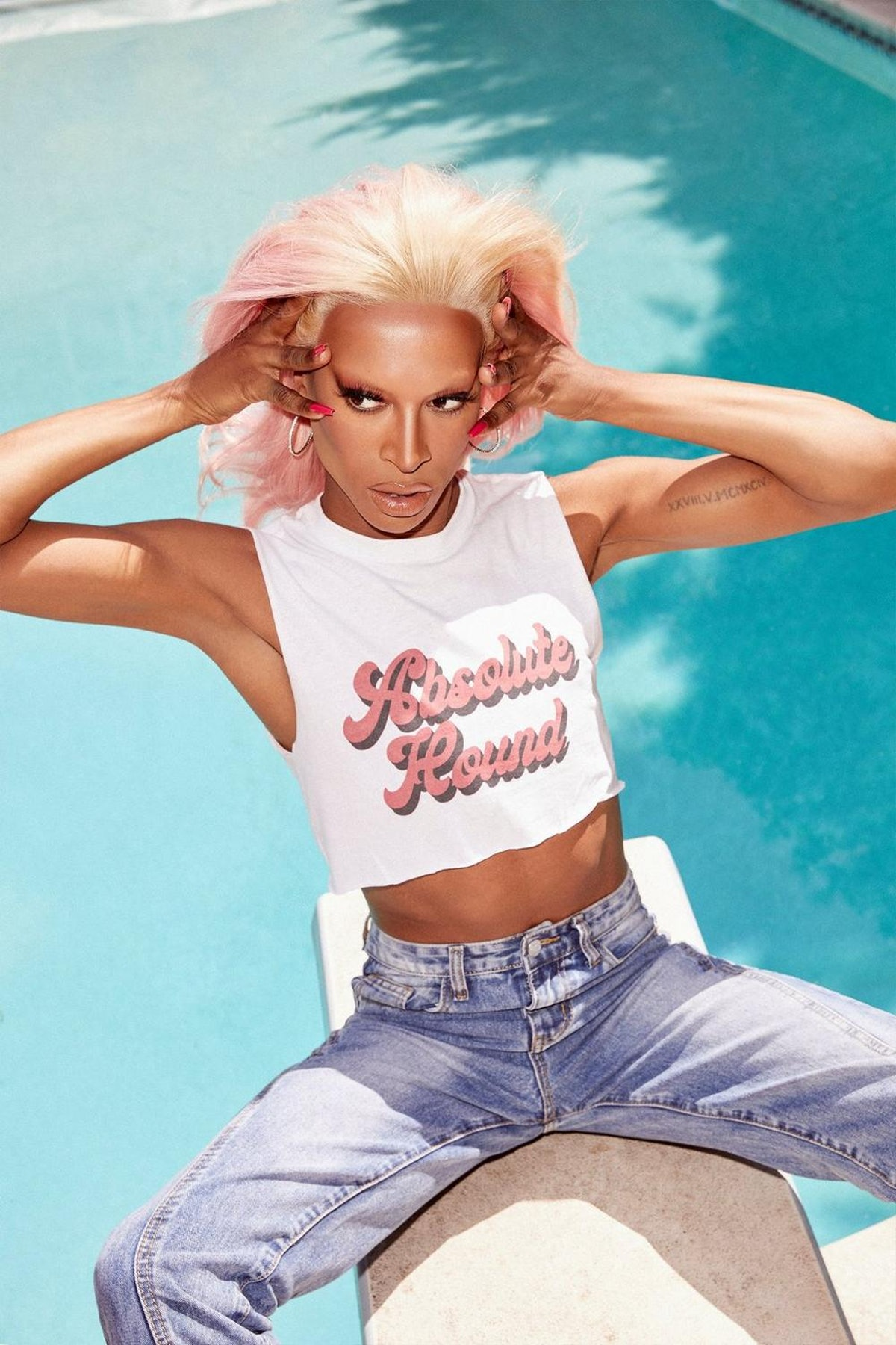 Nasty Gal x Tayce Absolute Hounds Graphic Crop Tank Top