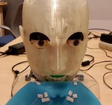 eva robot without face mask