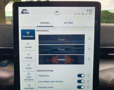 Ford Mustang Mach-E First Edition AWD Carbonized Gray infotainment display