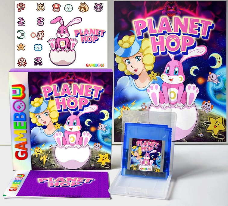 'Planet Hop' is a new retro-style game being released for the original Game Boy.