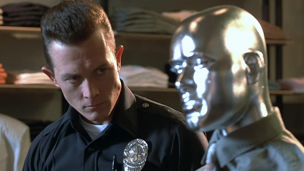 Robert Patrick plays the antagonist in Terminator 2.