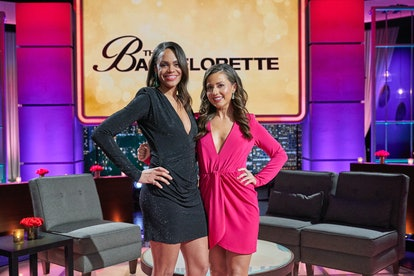 Michelle Young & Katie Thurston at 2021's 'The Bachelor: After the Final Rose' taping via ABC's pres...