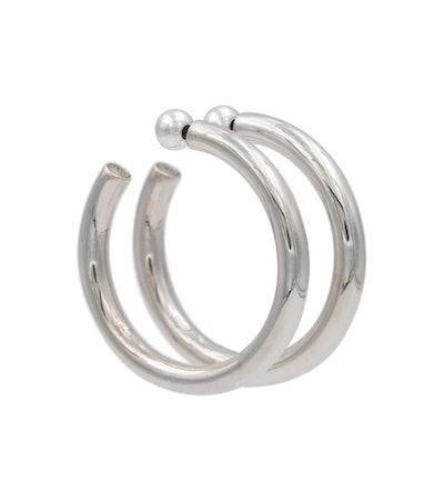 Sophie Buhai Everyday Medium Sterling Silver Hoop Earrings