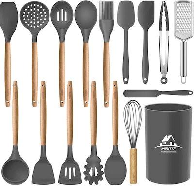 Mibote Silicone Kitchen Utensil Set (17 Pieces)