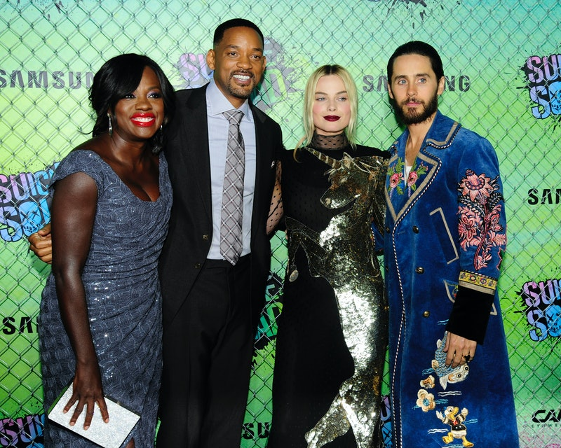 iola Davis, Will Smith, Margot Robbie and Jared Leto at the premiere of Suicide Squad.
