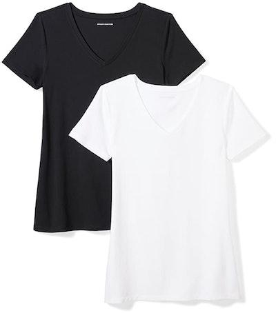 Amazon Essentials Short Sleeve V-Neck (2-Pack)