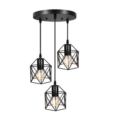 Industrial 3-Light Pendant Lighting
