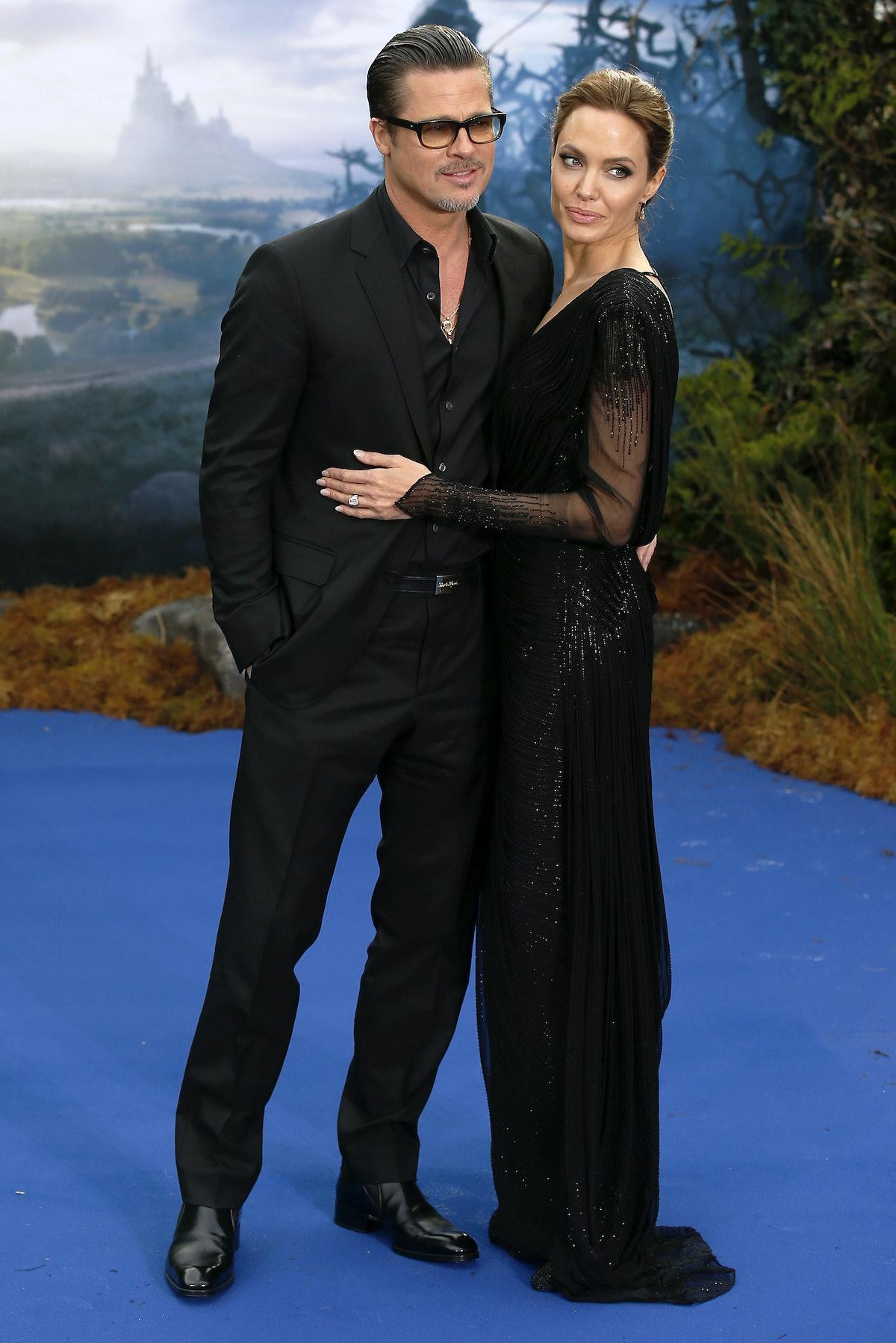 Brangelina wearing all black