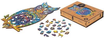 Unidragon Charming Owl Wooden Puzzle
