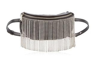 Leather Belt Bag With Crystal Fringe