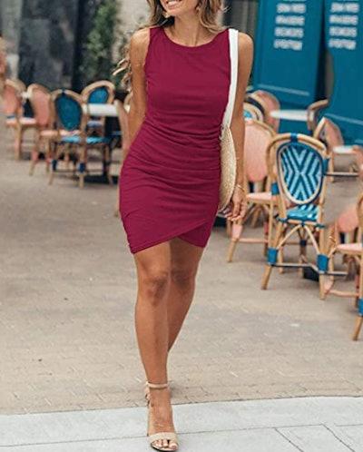 BTFBM Ruched Sleeveless Dress