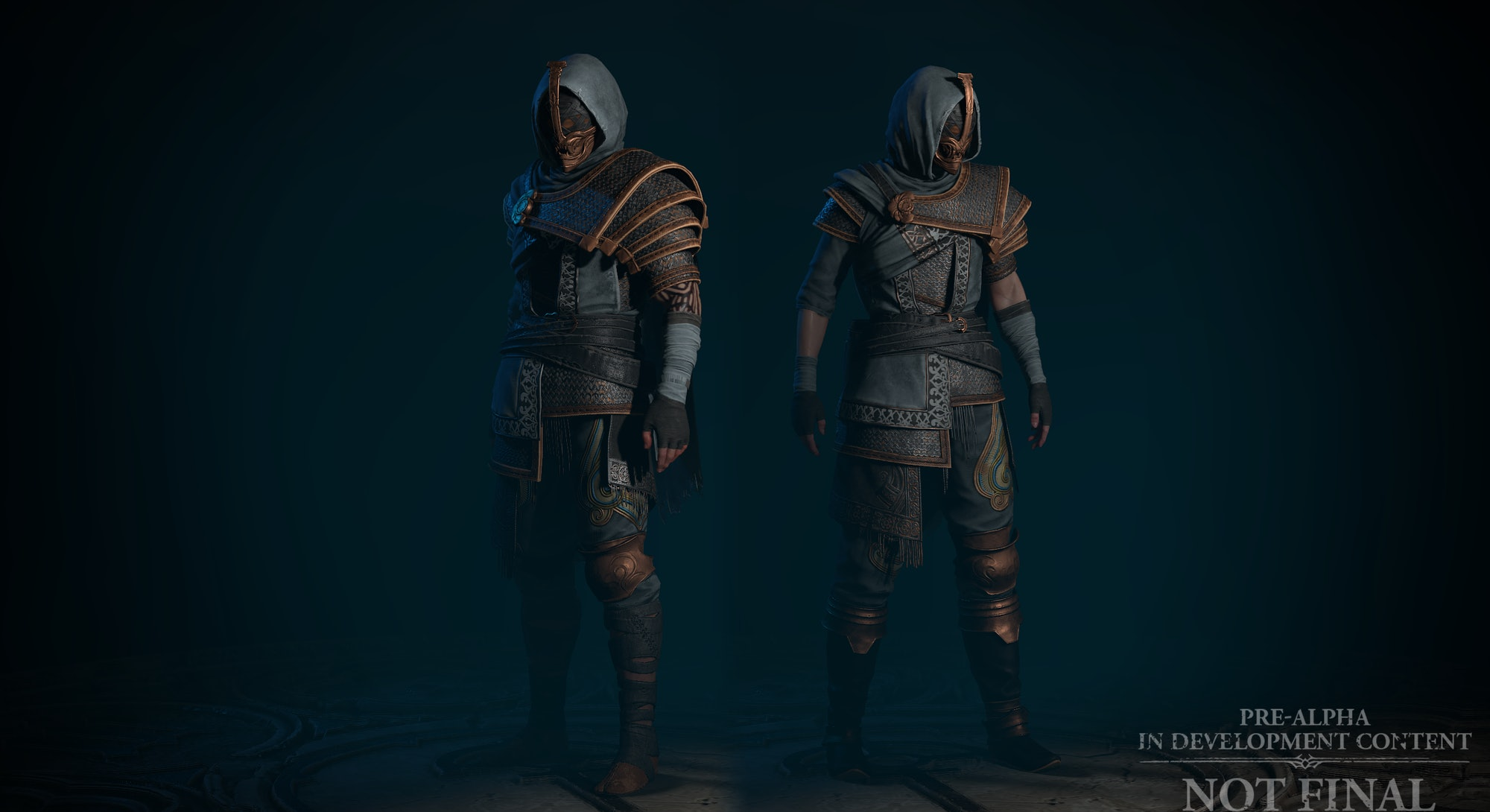 two rogue body types in armor from diablo 4