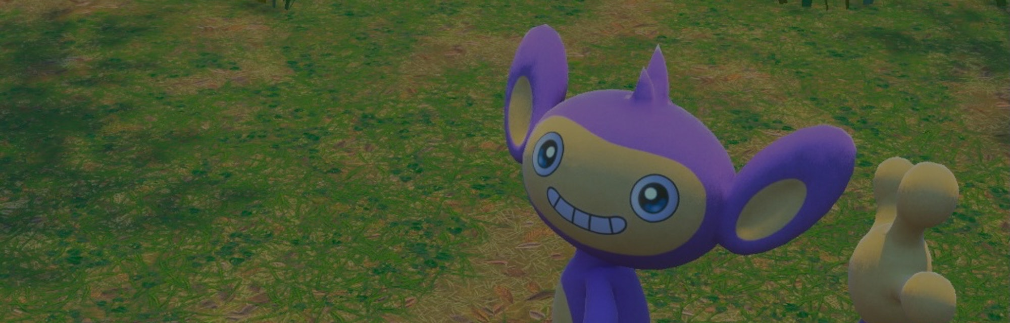 A Pokémon smiling