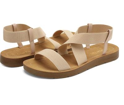 DREAM PAIRS Elastic Ankle Strap Sandals
