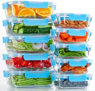 Glass Meal Prep Containers (10 Pack])