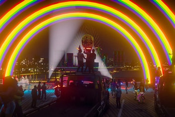 A role-playing server in Grand Theft Auto was the home of a Pride Parade.