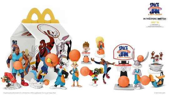 collection of McDonald's Space Jam happy meal toys