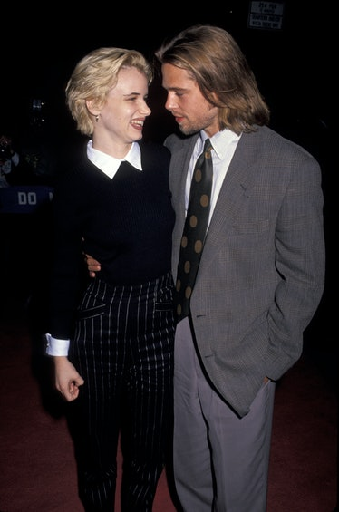 Blonde Juliette Lewis and long haired Brad Pitt