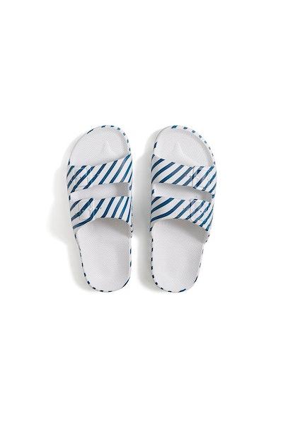 Slides in Midnight Blue Pinstripe