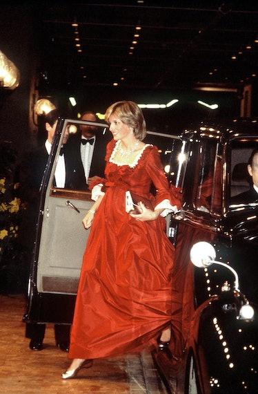 A pregnant Princess Diana