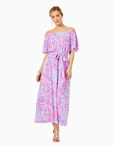 Moriah Off-The-Shoulder Midi Dress