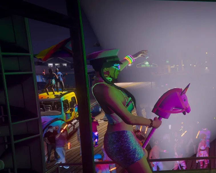 A role-playing server in 'Grand Theft Auto' was home to a massive Pride Month party.