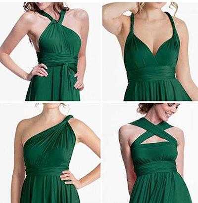 IWEMEK Convertible Wrap Evening Dress