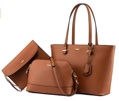 LOVEVOOK Leather Handbag (3 Pieces)
