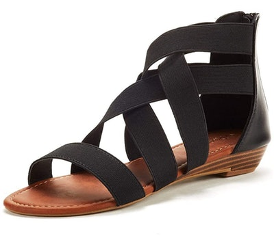 DREAM PAIRS Strappy Low Wedge Sandals