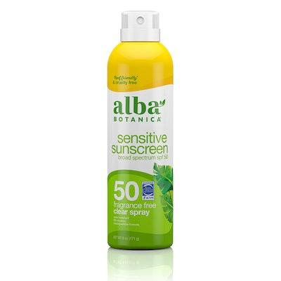 Sensitive Sunscreen Clear Fragrance-Free SPF 50 Spray
