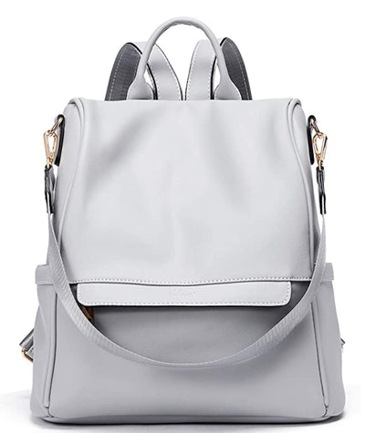 CLUCI Leather Backpack Purse