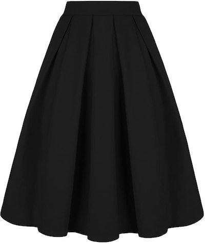 Tandisk Vintage A-Line Midi Skirt