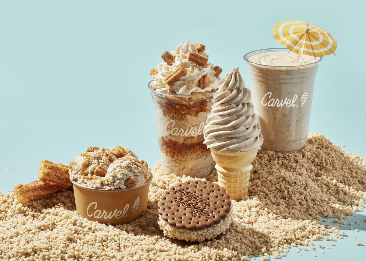 Carvel launched a new Churro Ice Cream and Crunchies menu.