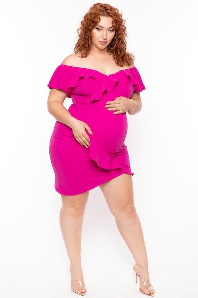 Bump Biddy Maternity Celia Asymmetric Hem Dress