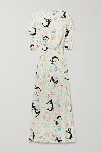 Lucile Printed Crepe Maxi Dress