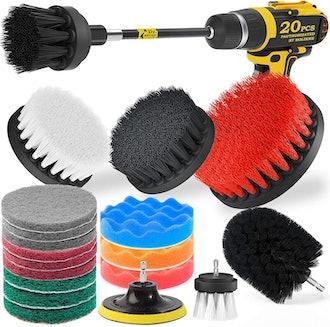 Holikme Drill Brush Attachments (20 Piece Set)