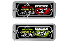 Viking Revolution Extreme Hold Beard & Moustache Wax, 0.5 oz. (2-Pack)