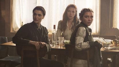 Rachel Weisz stars in 'Black Widow' with Scarlett Johansson and Florence Pugh.