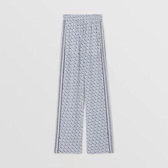 Monogram Silk Trousers