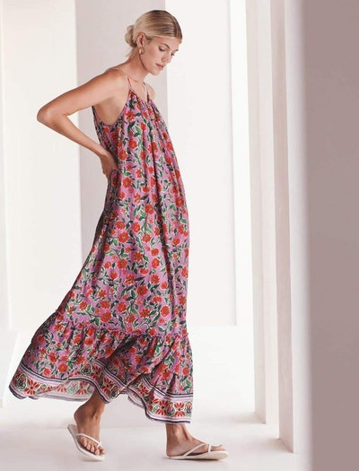 Floral Tiered Maxi Maternity Dress